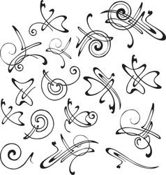 set of patterns for design vector image