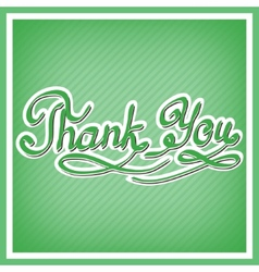 Thank you card with handwritten letters vector image