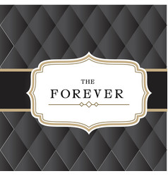 The forever retro black background image vector