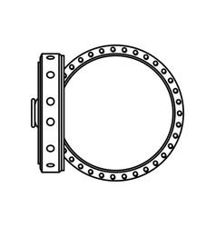 Vault safe deposit bank empty vector