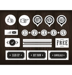 vintage icons vector image vector image