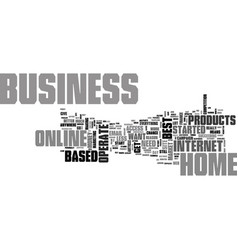 what makes up the best online home based business vector image vector image
