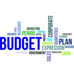 Word cloud budget vector