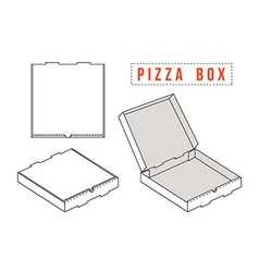 Stock template box for pizza vector