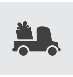 Delivery gift icon vector