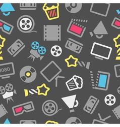 Cinema pattern vector