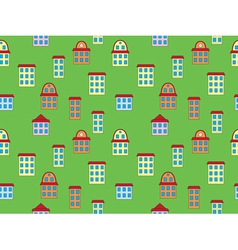 pattern with color building vector image