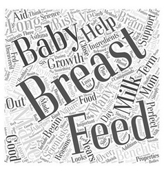 Reasons to breast feed word cloud concept vector