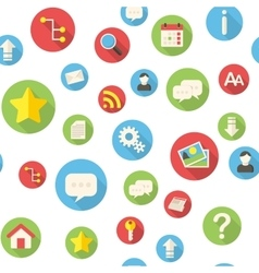 Seamless pattern with website icons vector image