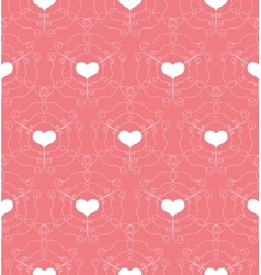 Seamless pattern with openwork hearts vector