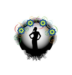 supermodel graphic vector image