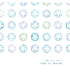 Abstract textile snowflakes dots horizontal frame vector