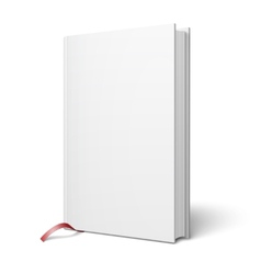 Blank vertical book with bookmark template vector