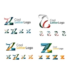Letter business emblem collection vector