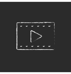 Filmstrip drawn in chalk vector