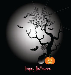 Happy halloween dark night vector