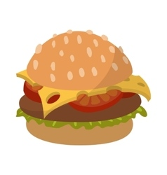 Hamburger cartoon sign vector