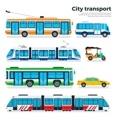 Types of city transport isolated on white vector