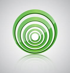 Abstract green circle icon vector