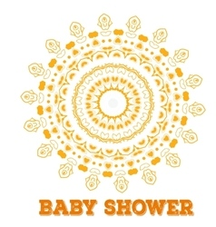 Baby shower symmetry circle shape child vector