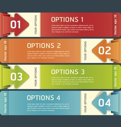 Colorful origami style number options banner vector image vector image