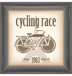 Cycling race vector