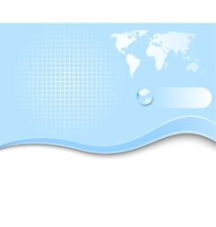 earth planet - web banner vector image