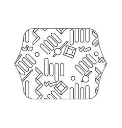 Edge quadrate with graphic memphis style vector