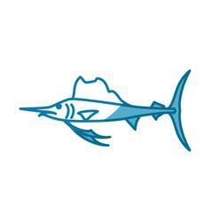 fish marine animal vector image vector image