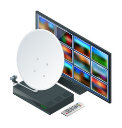 isometric icon an antenna a remote and receiver vector image vector image