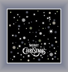 Merry christmas typography handwriting background vector