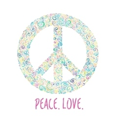 Peace sign on white for International Peace Day vector image vector image