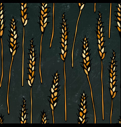 Seamless with malt beer pattern isolated on a vector