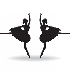 Set of ballet dancers silhouette vector