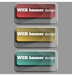 Set of realistic web banners rectangular form vector image vector image