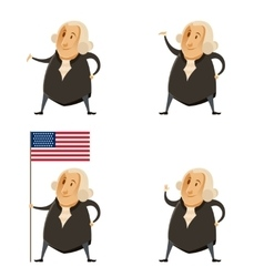 Set of washington presidents vector