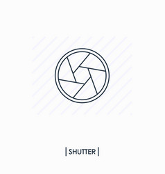 shutter outlinline icon isolated vector image vector image