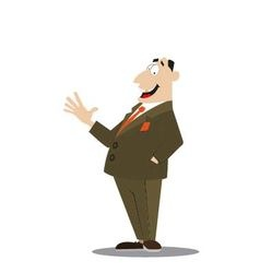successful businessman in a suit vector image vector image
