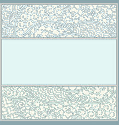 Template in art-nouveau style vector
