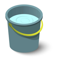 Water bucket icon isometric style vector