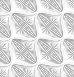 White diagonal wavy net layered seamless pattern vector image vector image