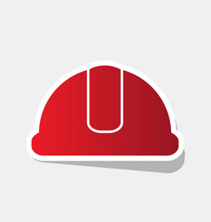 Hardhat sign  new year reddish icon with vector