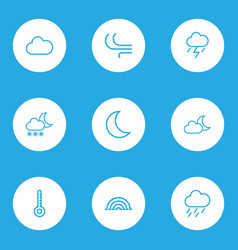 Weather outlines set collection of temperature vector