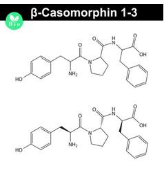 Beta casomorphin 1-3 molecular structure opioid vector