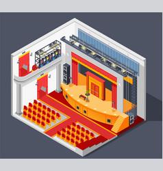 Theatre interior composition vector
