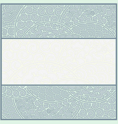 Card or frame template art-nouveau style vector