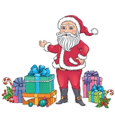 Santa claus gifts vector