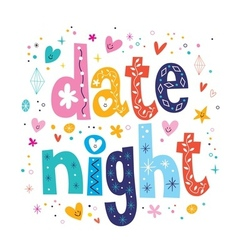 Date night vector