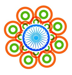 Creative indian flag design with circles vector