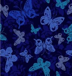 Butterflies silhouette pattern vector